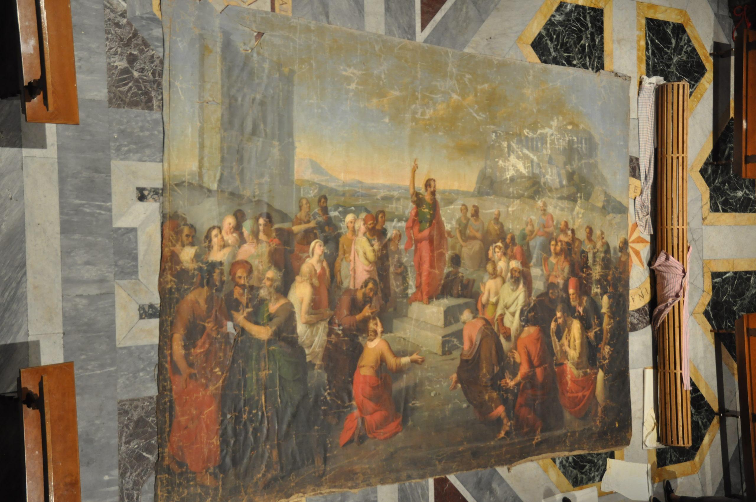 Grande toile du XIXème siècle à Saint-Louis des Français